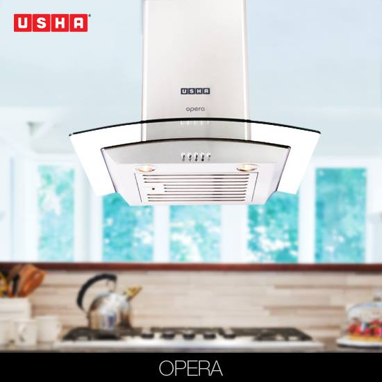 USHA HOODS, enable you to place your cooktop at any distance from the walls