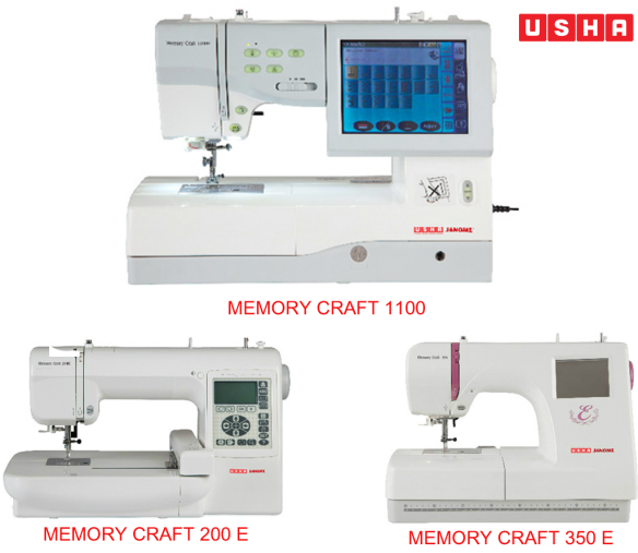 USHA JANOME MEMORY CRAFT EMBROIDERY SEWING MACHINES