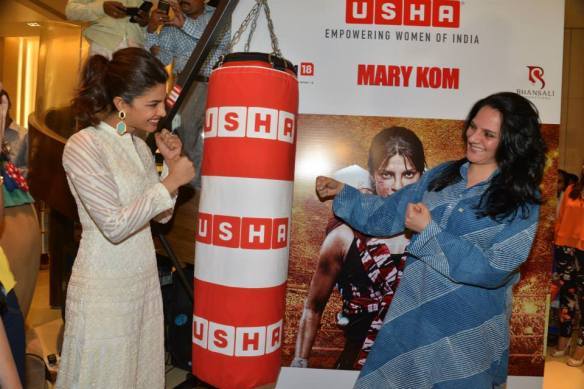 Priyanka Chopra with USHA Director Chayya Shriram
