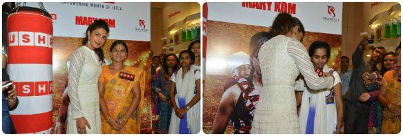 Priyanka Chopra Felicitates USHA Silai School Women