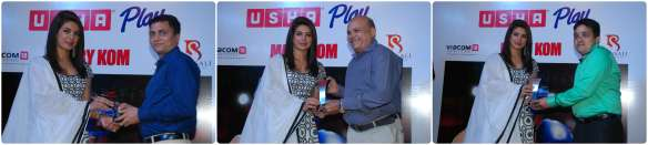 Priyanka felicitates various USHA performers