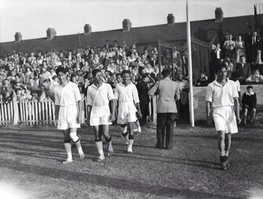 Indian Football Team 1948 Olympics. Look no Shoes!