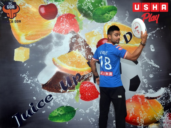 Virat Kohli at the Usha Play zone